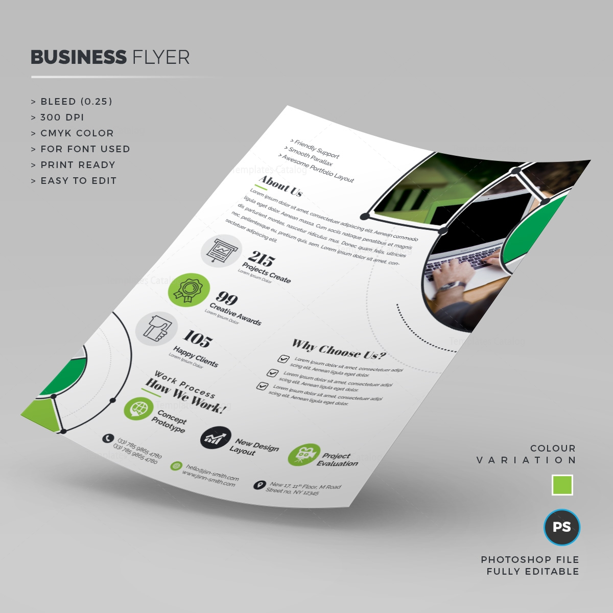 print ready business flyer template 000256