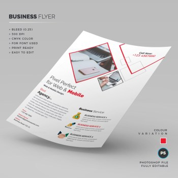 White Business Flyer Template