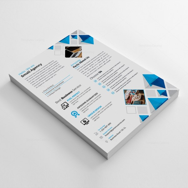 White Corporate Flyer Template