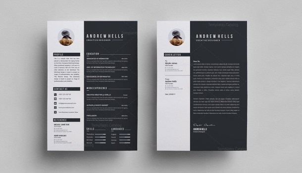 Black White Resume Template