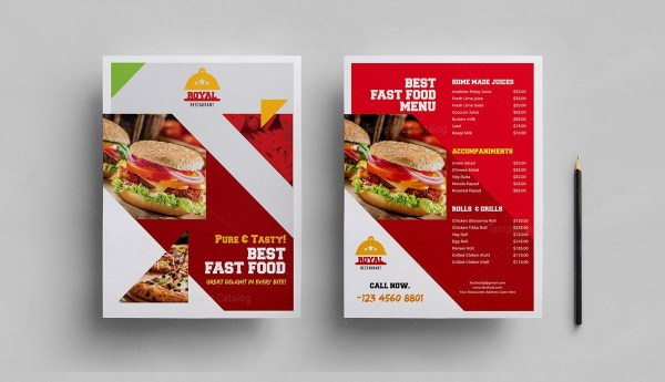 Fast Food Cafe Menu Template