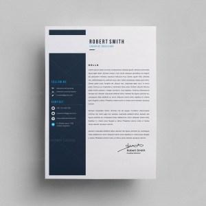 Sleek PSD Resume Template