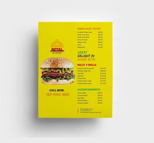 Fast Food Restaurant Menu Template
