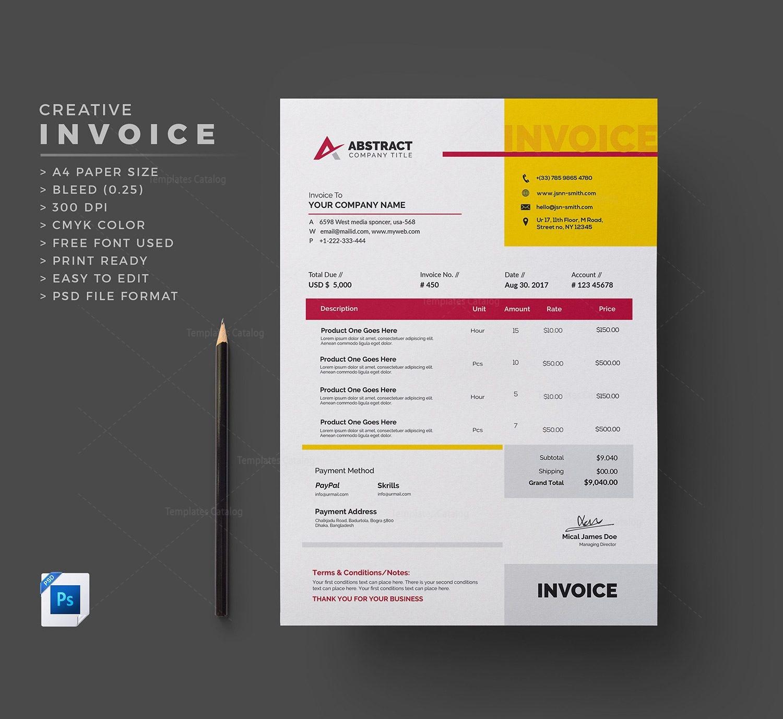 free invoice template 000336 template catalog. Black Bedroom Furniture Sets. Home Design Ideas
