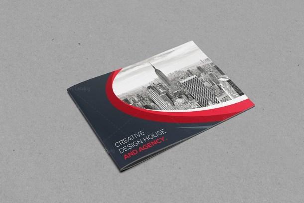 Classy Landscape Bi-Fold Brochure Template