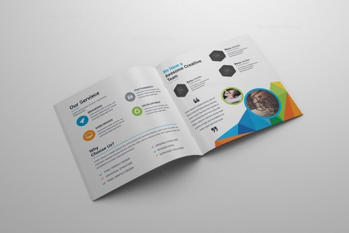 Colorful Square Brochure Template