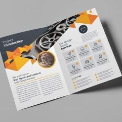 Corporate Company Bifold Brochure Template