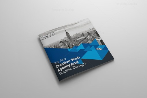 Creative Corporate Bifold Brochure Template PSD