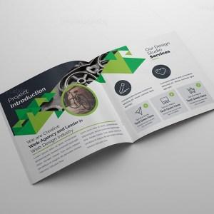Creative Corporate Bifold Brochure Template PSD