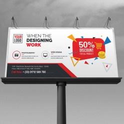 Discount Billboard Banner Template