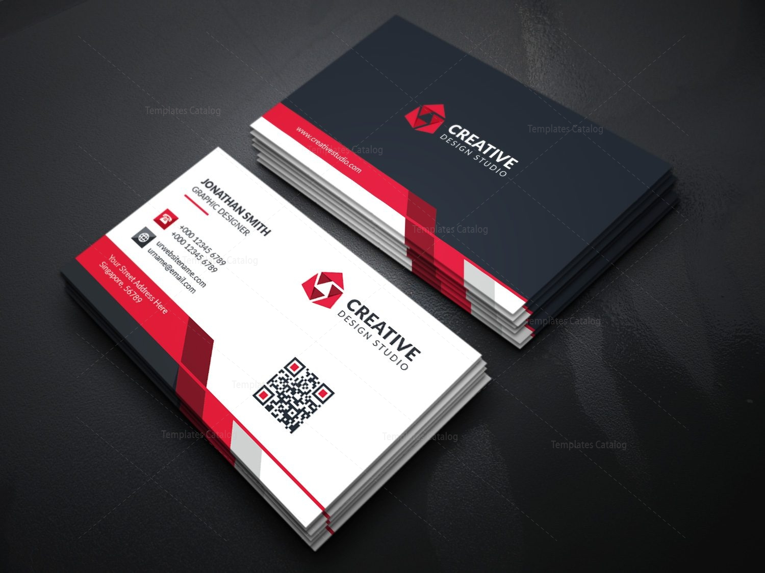 modern business card template with creative design 000366