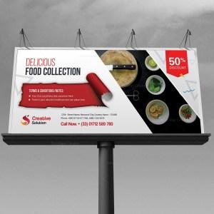 Restaurant Billboard Banner Template