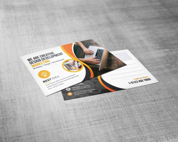 Corporate Post Card Design Template