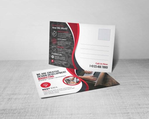 Corporate Post Card Design Template