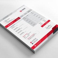 Elegant Corporate Invoice Template