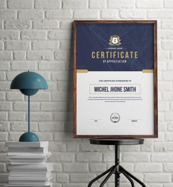 Elegant Portrait Certificate Template