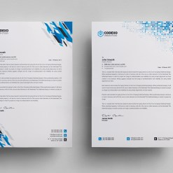 Letterhead Stationery Template