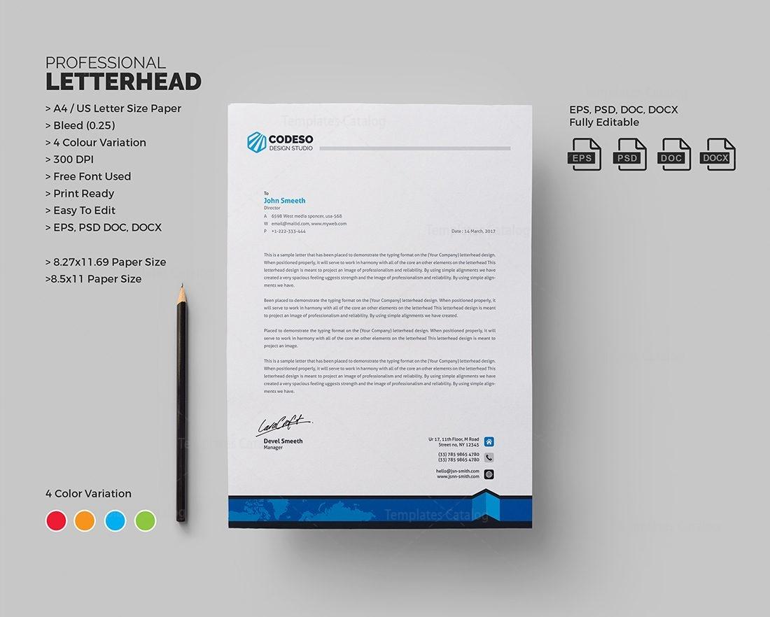 letterhead template 000545
