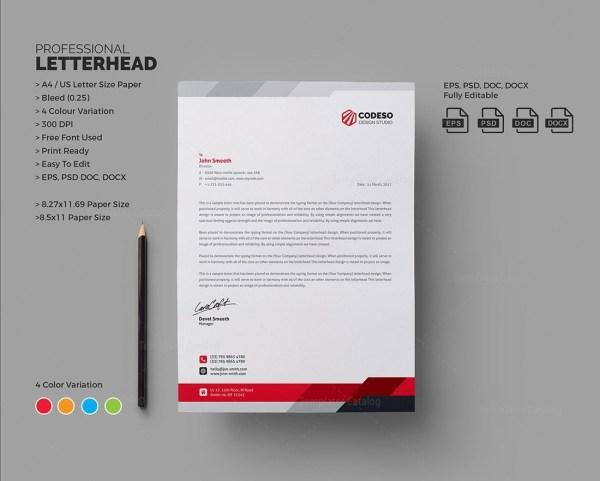 Modern Business Letterhead Template