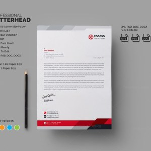 Modern Business Letterhead Template