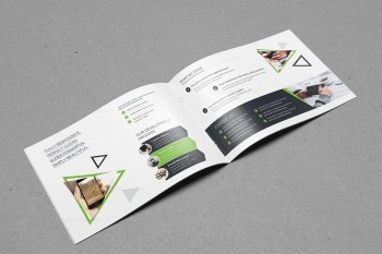 Plain Landscape Brochure Template