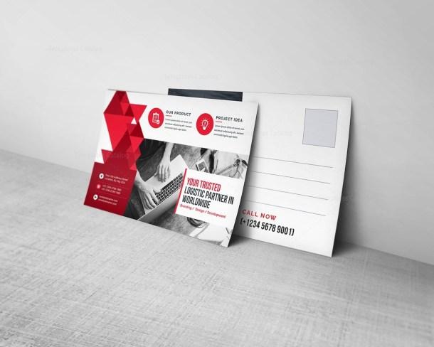Postcard Template with Elegant Design