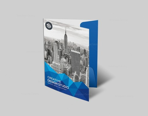 Presentation Folder Design Template