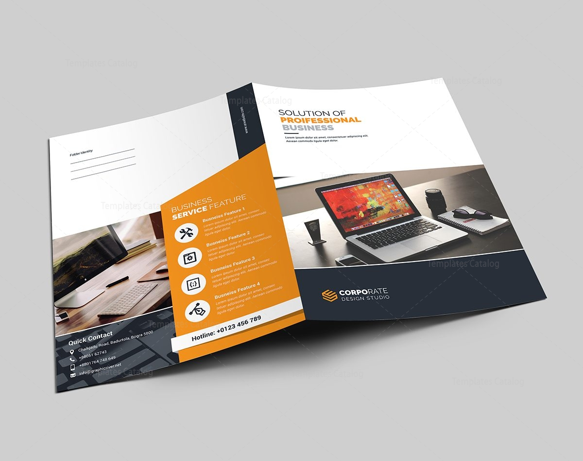 presentation folder template with classic design 000565