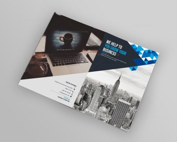Blue Diamond Bi-Fold Brochure Template