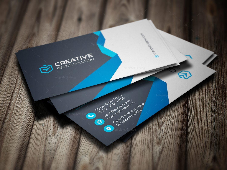 chic modern business card template 000781