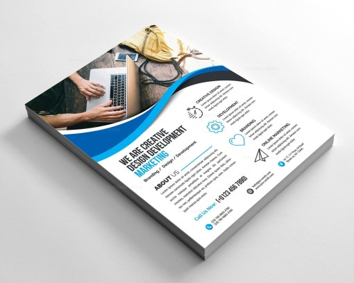 Elegant Corporate Flyer with Beautiful Style