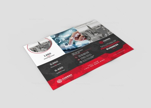 Holly Corporate Tri-Fold Brochure Template