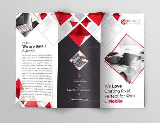 Indigo Corporate Tri-Fold Brochure Template