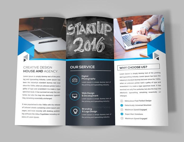New Idea Tri Fold Brochure Template 000732   Template Catalog New Idea Tri Fold Brochure Template 3