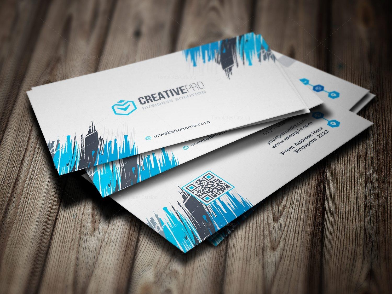 Sharp Professional Business Card Template 000782 Template Catalog