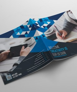 Stylish Business Bi-Fold Brochure Template