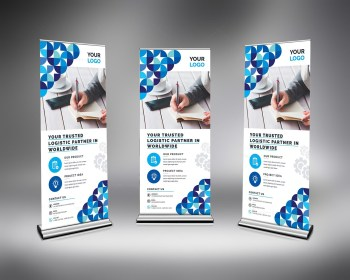 Stylish Clean Roll Up Banner Template