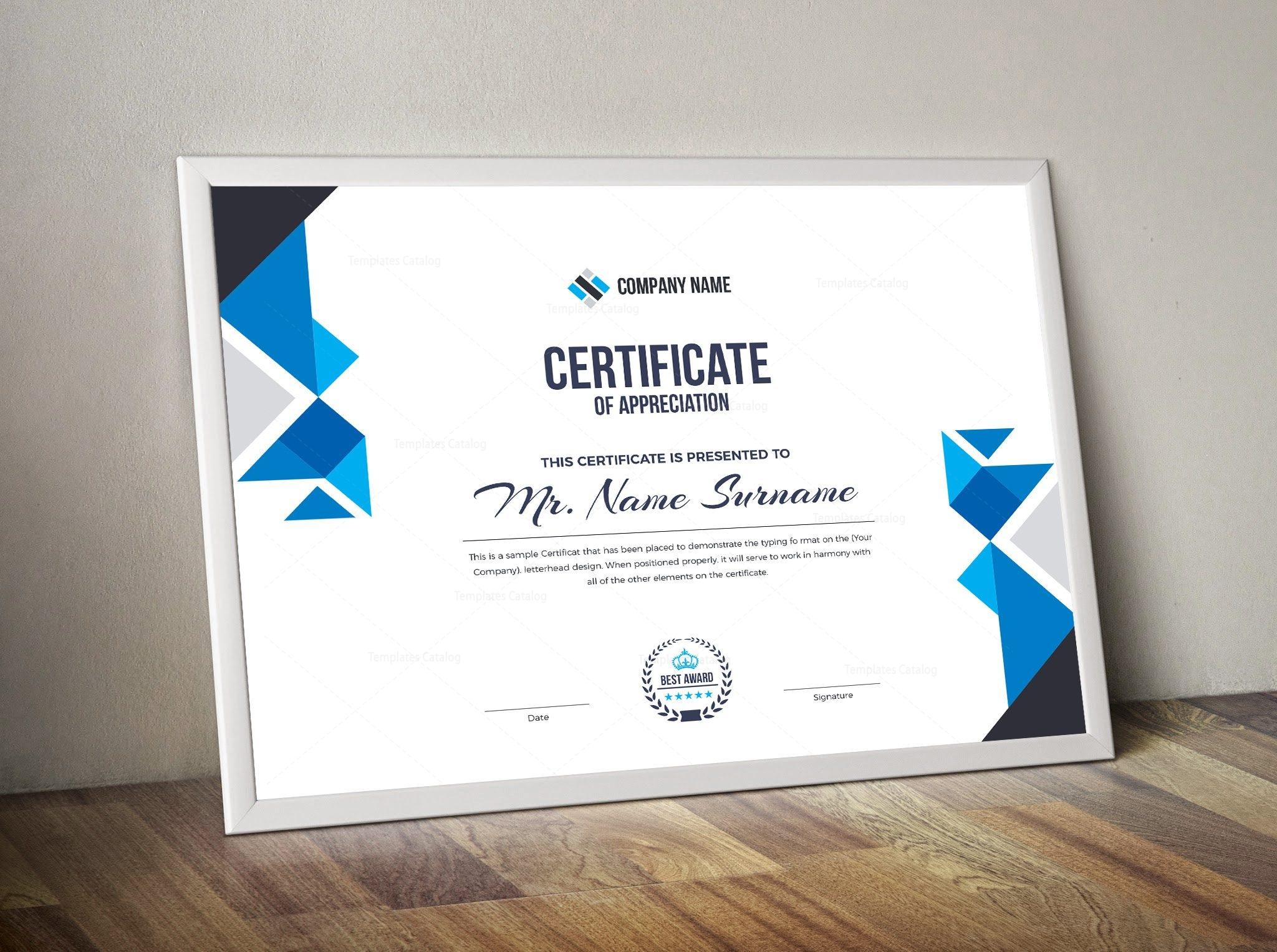 angel corporate certificate template 000852