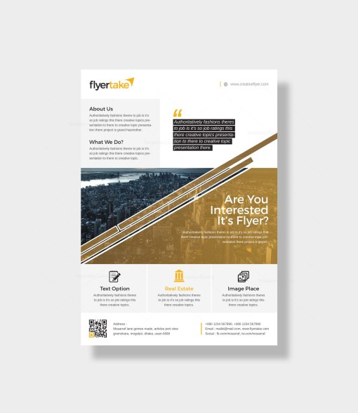 Attis Stylish Corporate Flyer Template