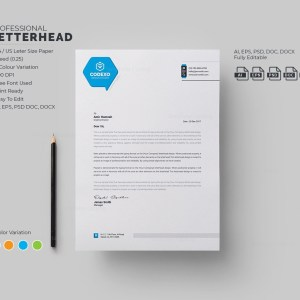 Energy Professional Corporate Letterhead Template