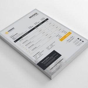 Gray Stylish Corporate Invoice Template