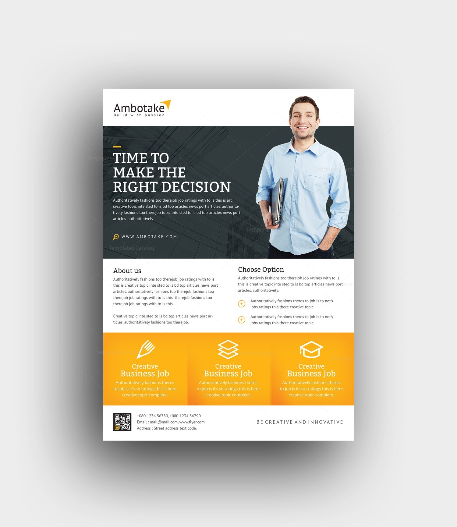momus professional corporate flyer template 001002