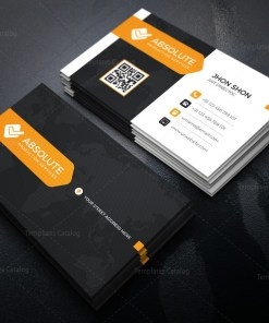 Neon Stylish Corporate Business Card Template
