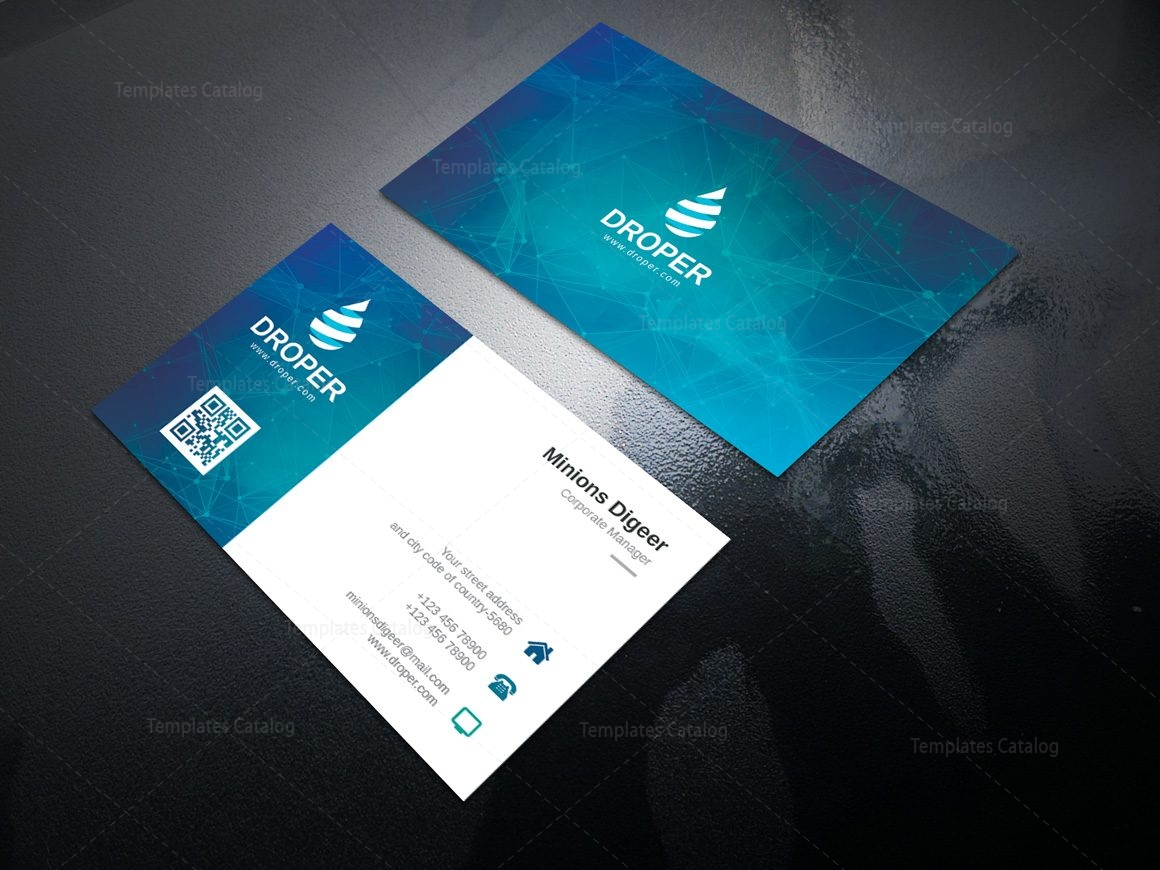 neutron professional corporate business card template