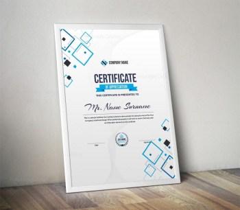 Portrait Certificate Template with Modern Design