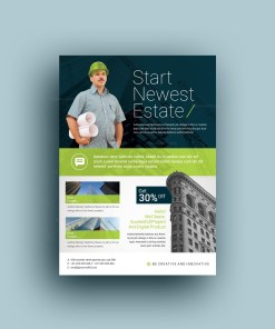 Professional Corporate Construction Flyer Template
