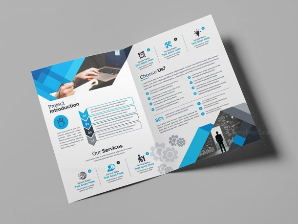 Supernova Elegant Bi-Fold Brochure Template