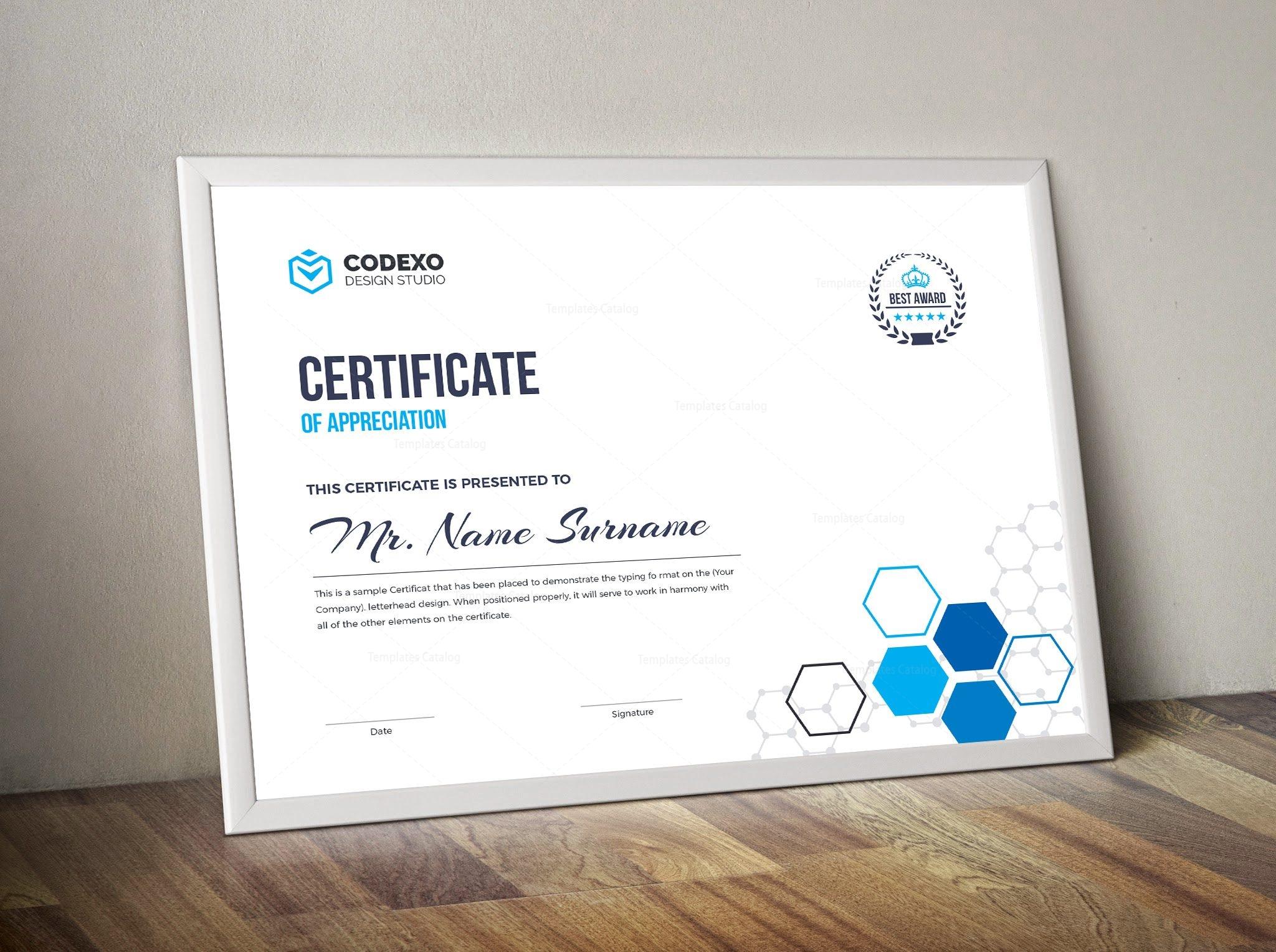 Top Rated Elegant Corporate Certificate Template 000854 ...