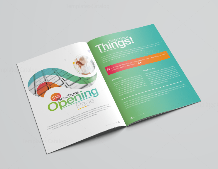 2 Page Brochure >> 16 Pages Rainbow Professional Corporate Brochure Template 001197 Template Catalog