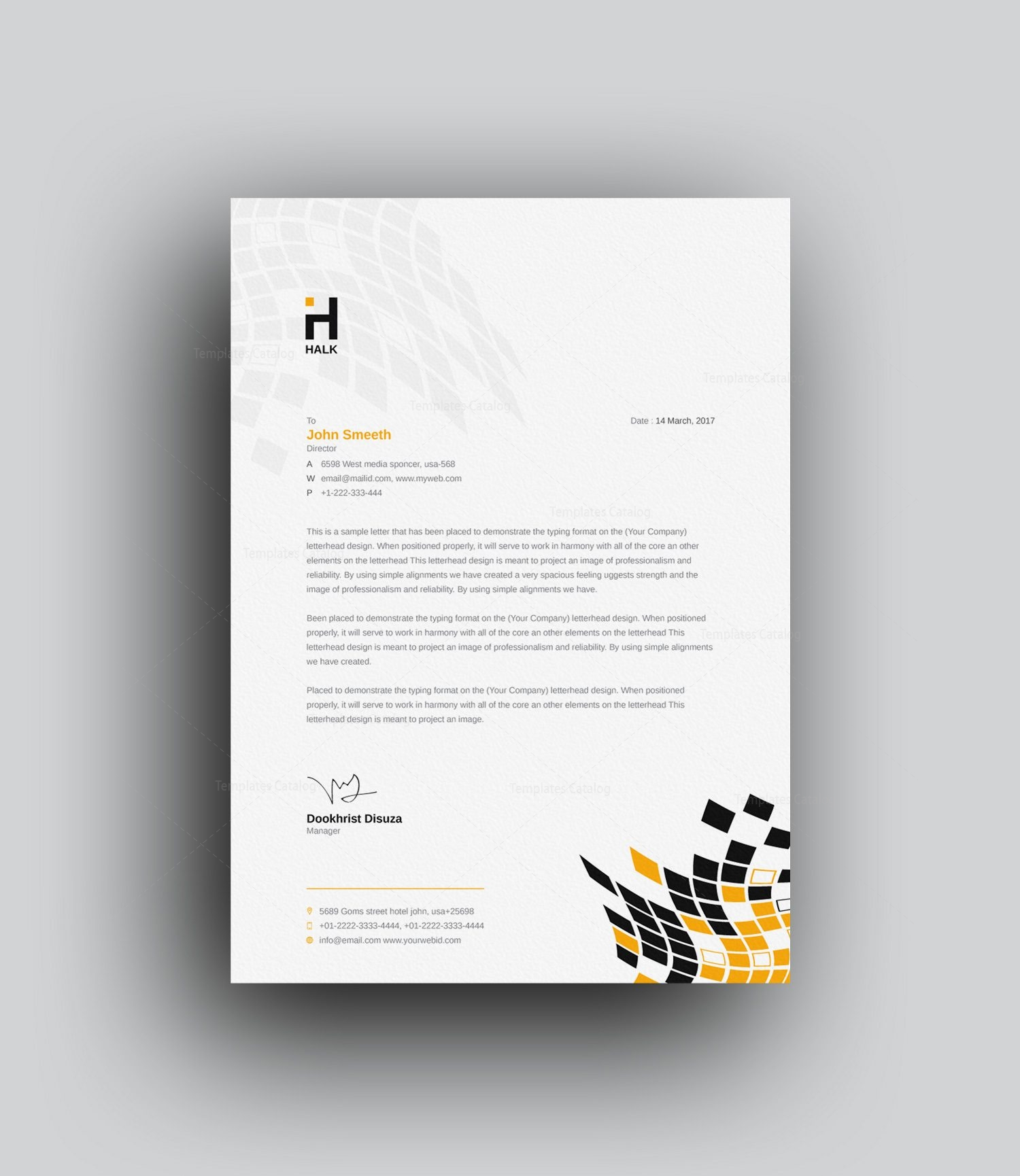Corporate Letterhead Template At Rs 2 Piece: Alastor Professional Corporate Letterhead Template 001026